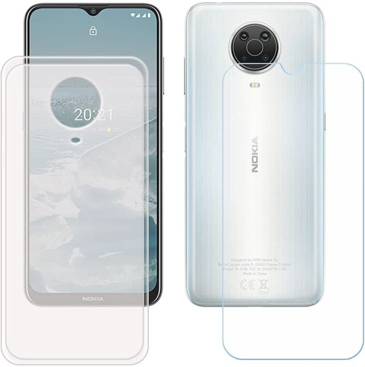 Yzkjsz Tempered Glass Protective Film Translucent Silicone Case Nokia G10 G20 Reco