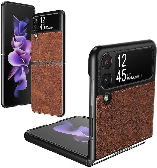 Foluu Leather Hybrid Casel Galaxy Z Flip