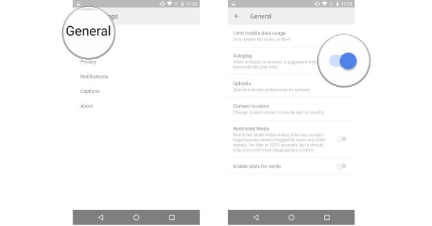 How to upload videos and manage the YouTube app for Android