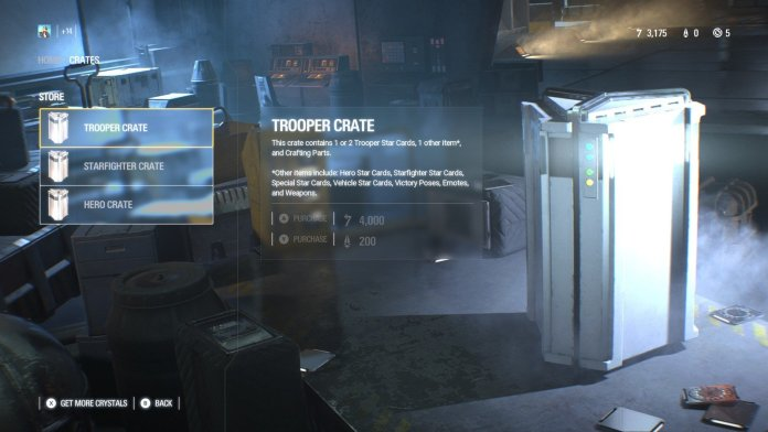 Star Wars Battlefront II loot crates