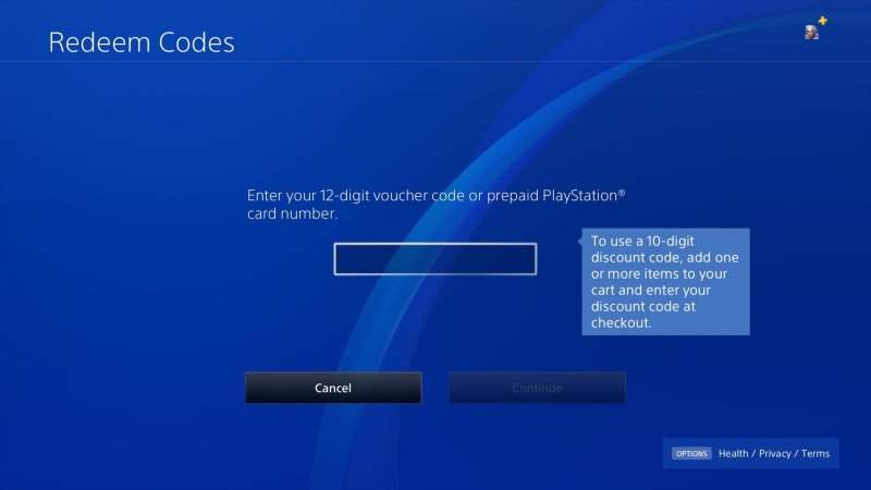 PS4 Store Redeem Card 2