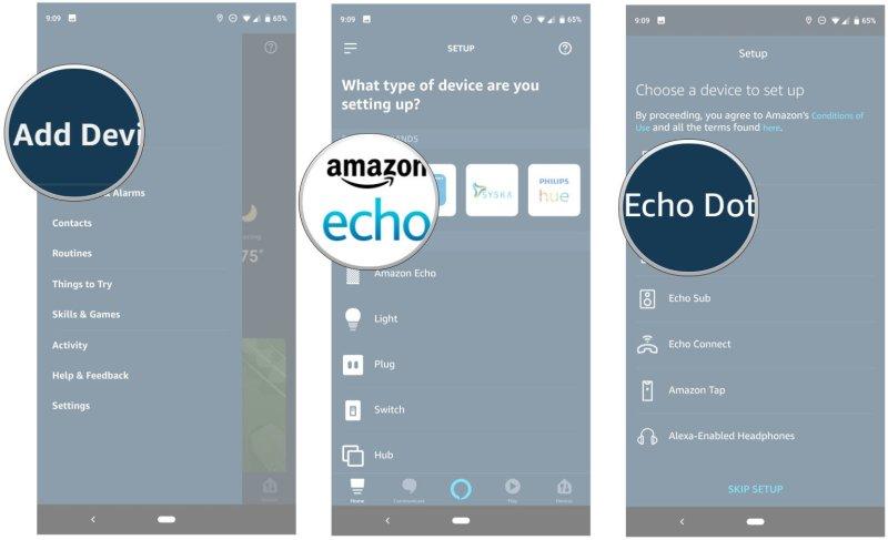 Connecting your Echo with the Amazon Alexa app