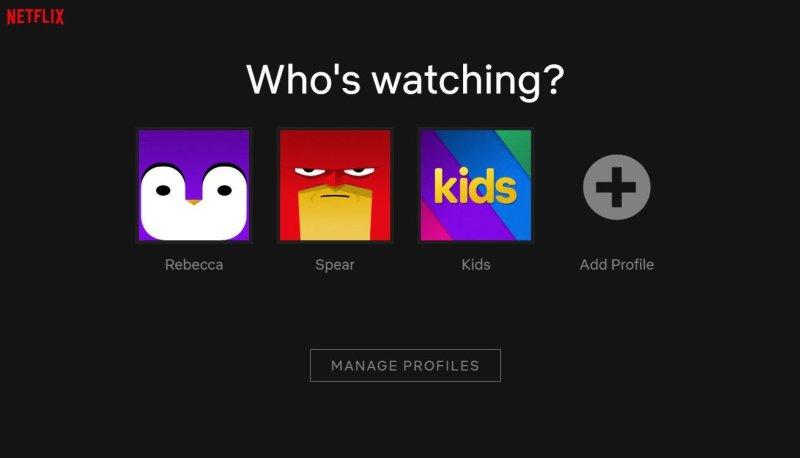 Netflix Manage Profile Page