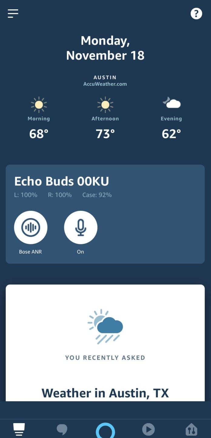 Echo Buds custom screen 1