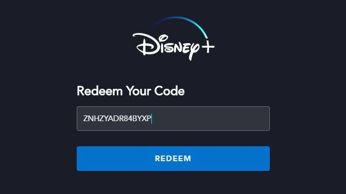 Code Plus Disney Plus