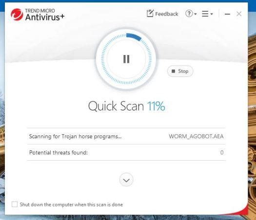 Trend Micro Antivirus Scan