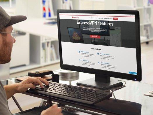 Expressvpn Monitor Mockup Placeit