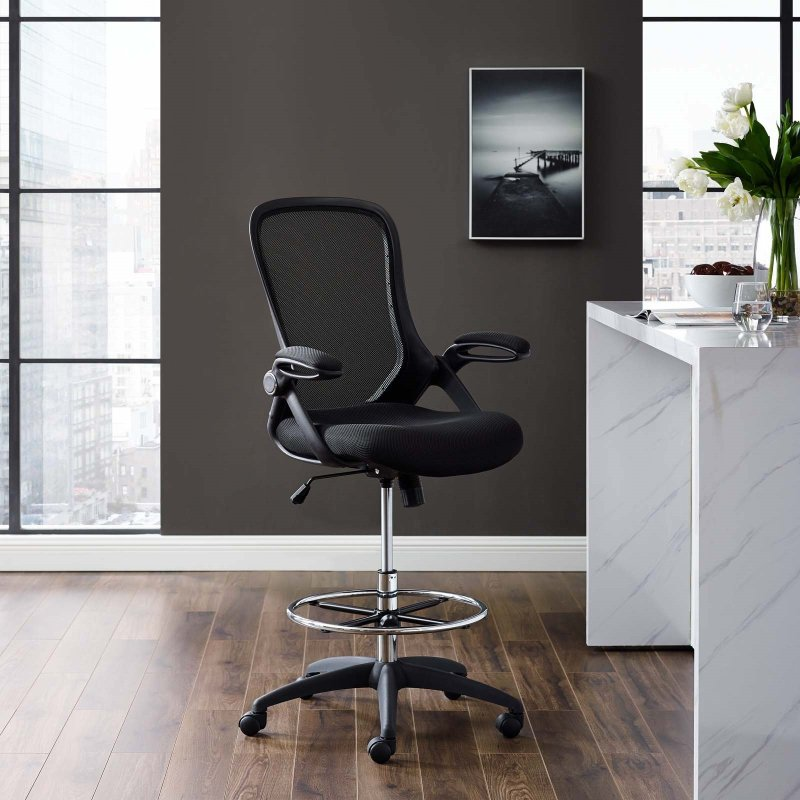 Modway Assert Drafting Chair Lifestyle