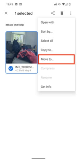 Move Images To Hidden Folder
