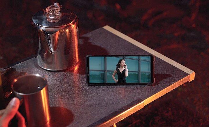 Sony Xperia 1 II On Table