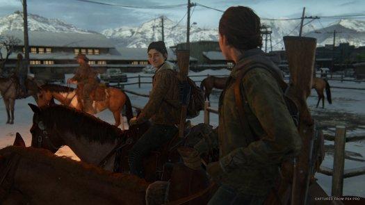 The Last Of Us Part II Ellie And Dina Horseback