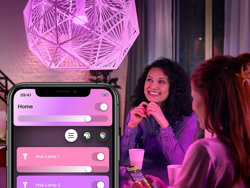 Philips Hue White Color Ambiance A19 Smart Led Bulb Lifestyle