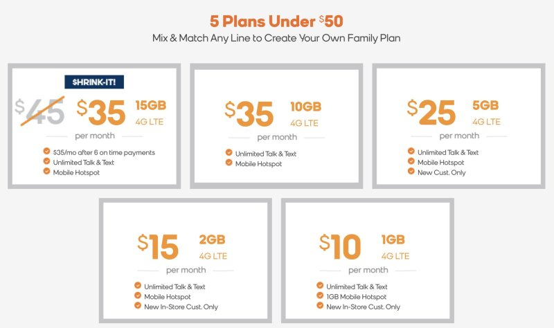 Boost Mobile Expanded Data Plans