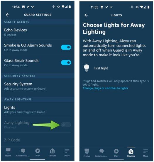 Alexa Guard Lights Step 2
