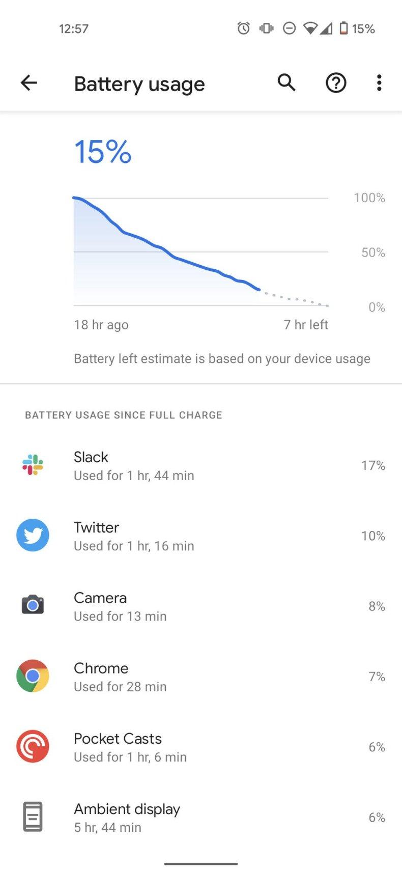 P5 Battery Screenshots