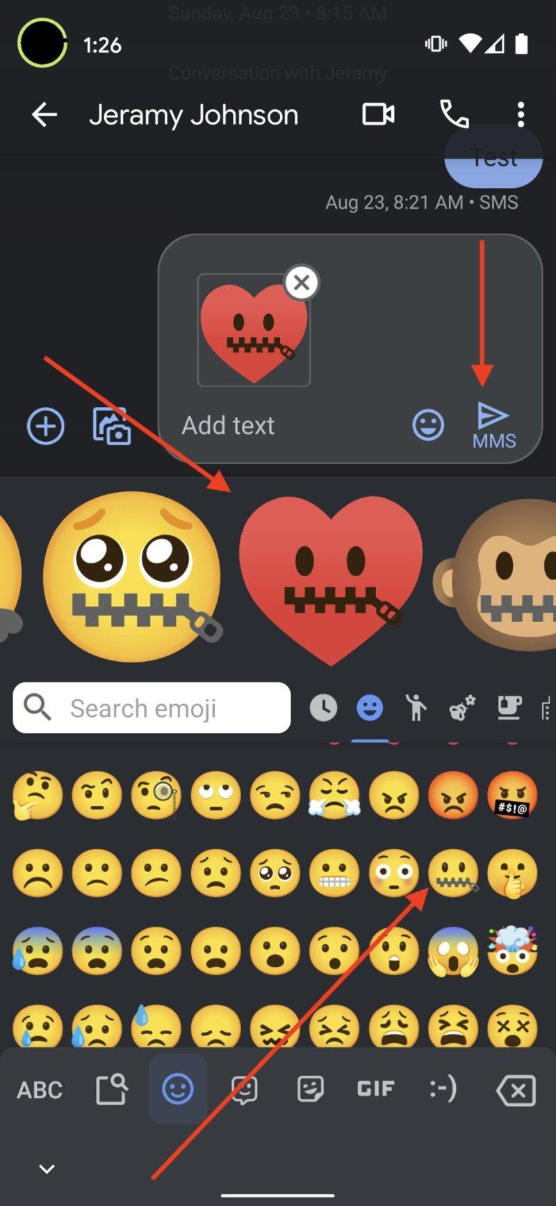 Gboard emoji mashup step 4