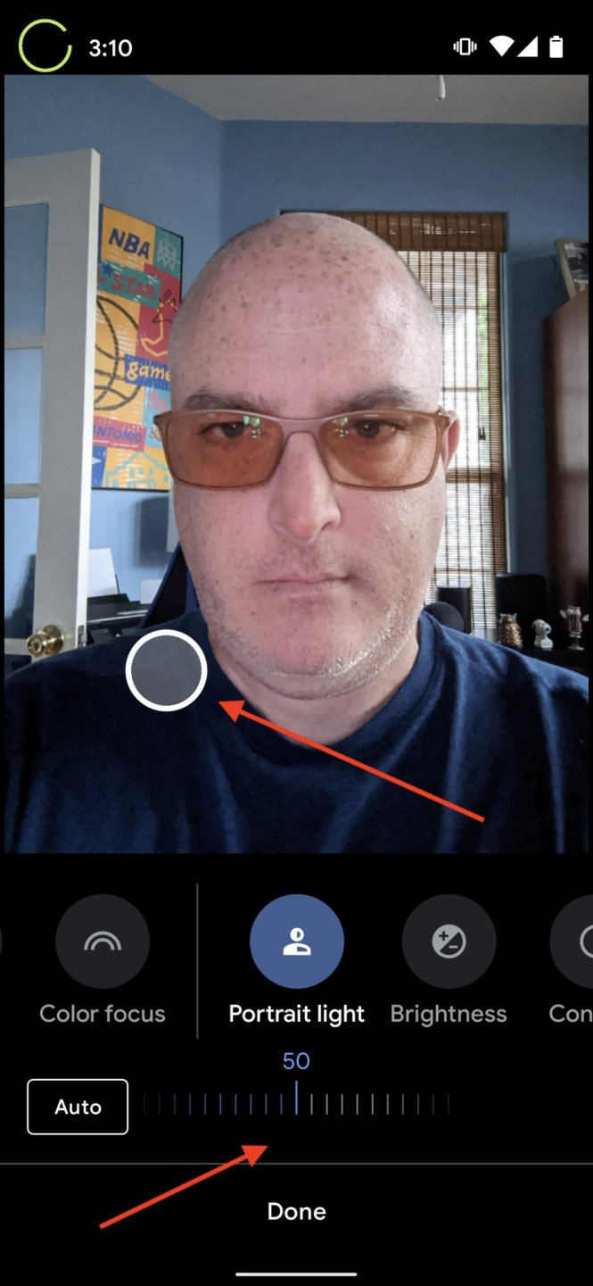 Google Photos how to portrait lighting 3