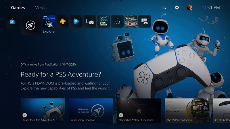 Ps5 Home Screen