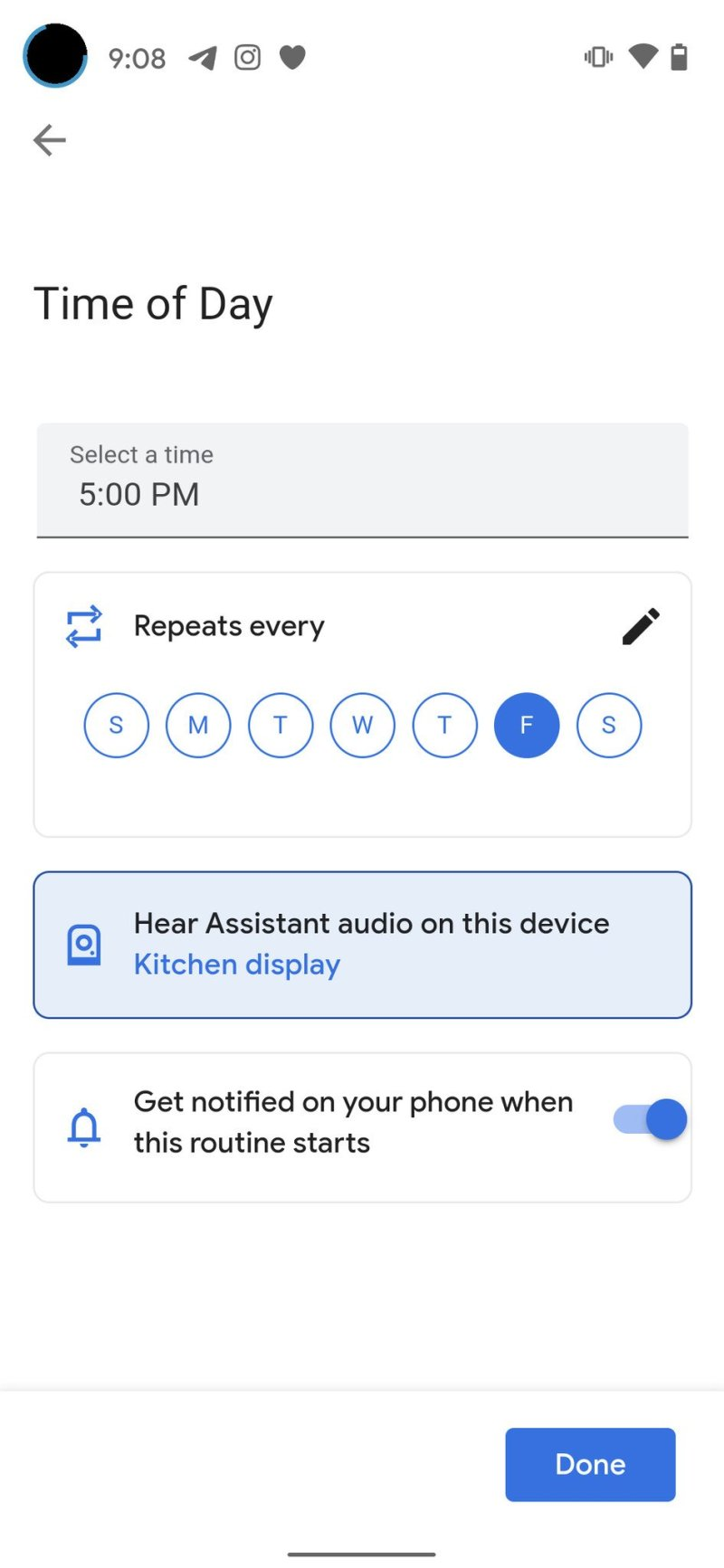 Create Google Assistant Routine Step 4-1