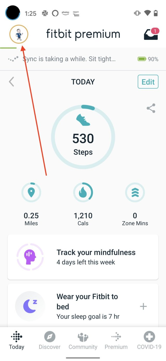 Fitbit Goals Step 1