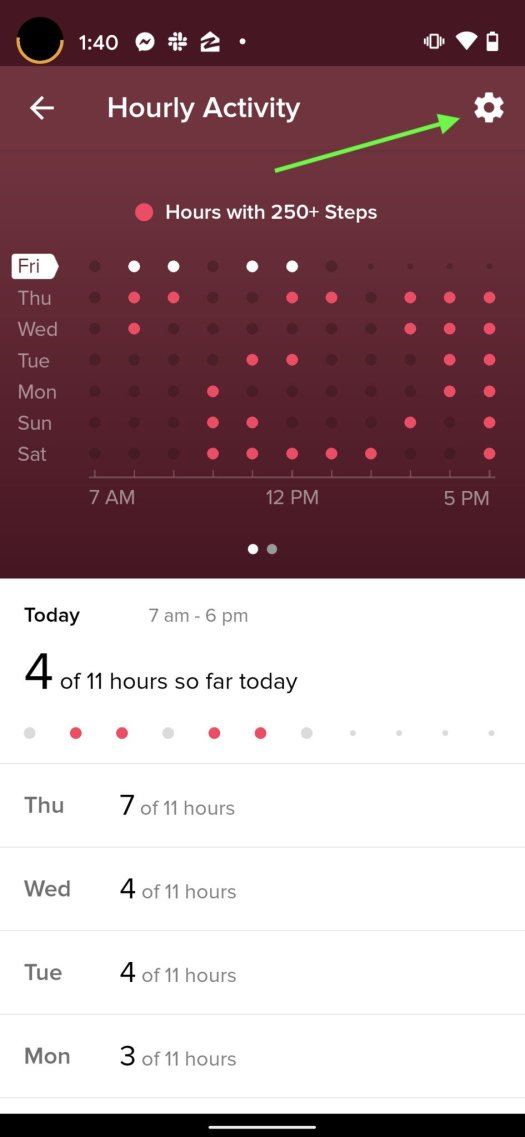 Fitbit Move Reminder Step 2