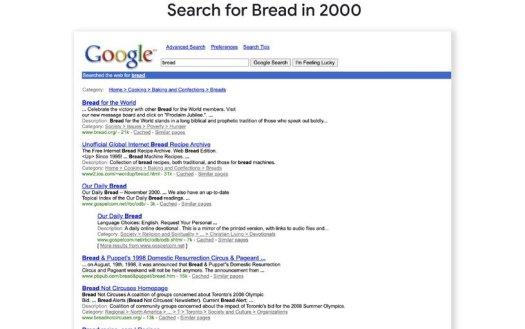 Google Search Bread
