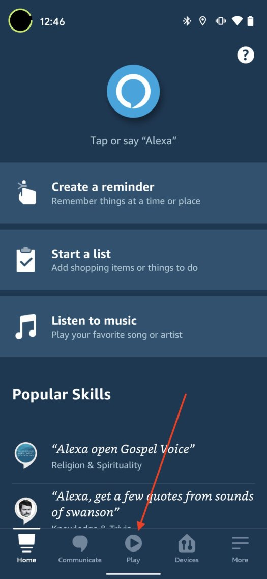 Stream Music Alexa App Step 1