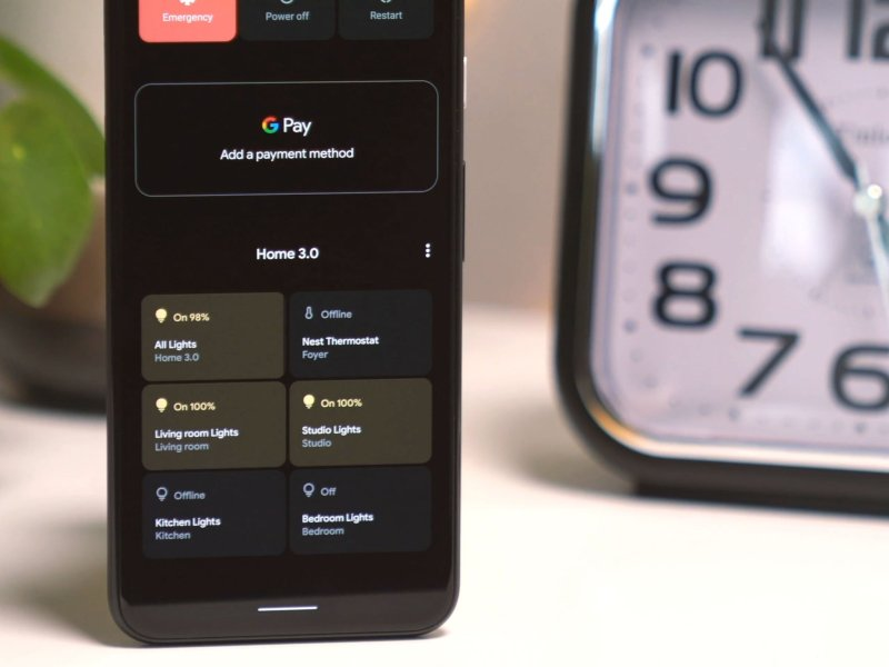 Android 11 Home Controls