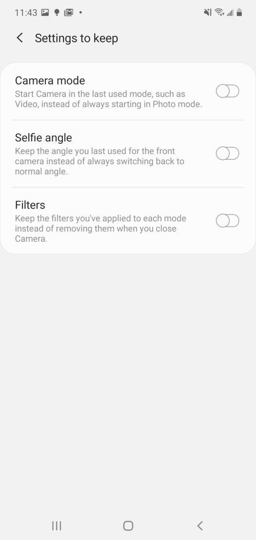 Samsung Camera App Settings Step 4