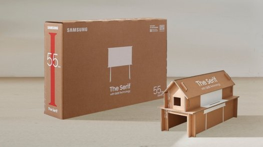 Samsung QLED Sustainable Packaging