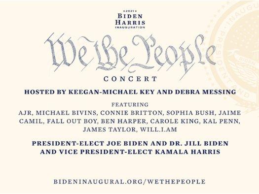 We The People Inauguration Concert Hero