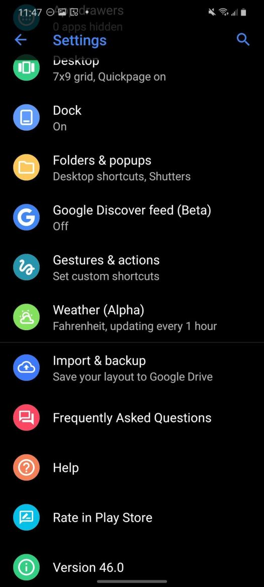 How To Backup Action Launcher