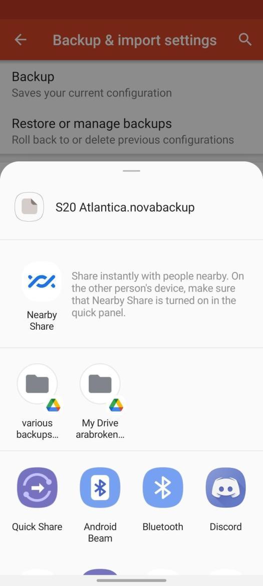 How To Backup Nova Launcher