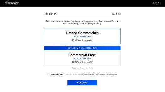 Paramount Plus Cost