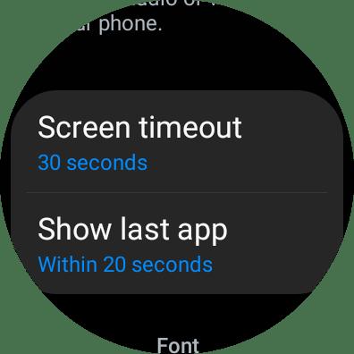 Change Screen Timeout on Galaxy Watch 4