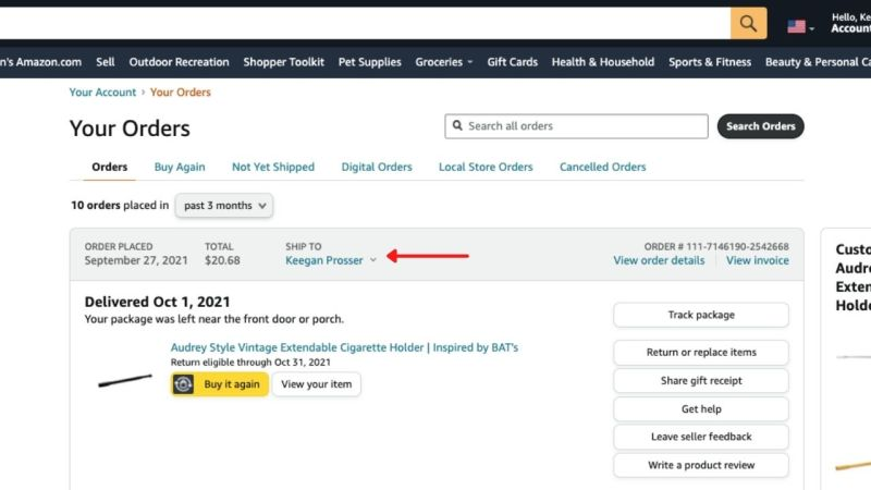 Amazon Orders Shipping