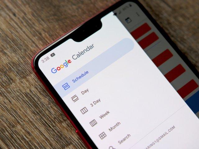 Google Calendar on Pixel 3 XL