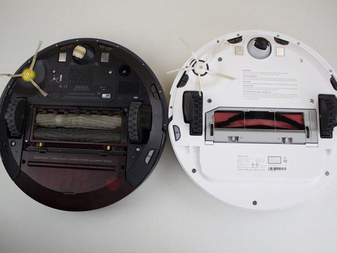 Underside of Roomba 980 and Roborock S6