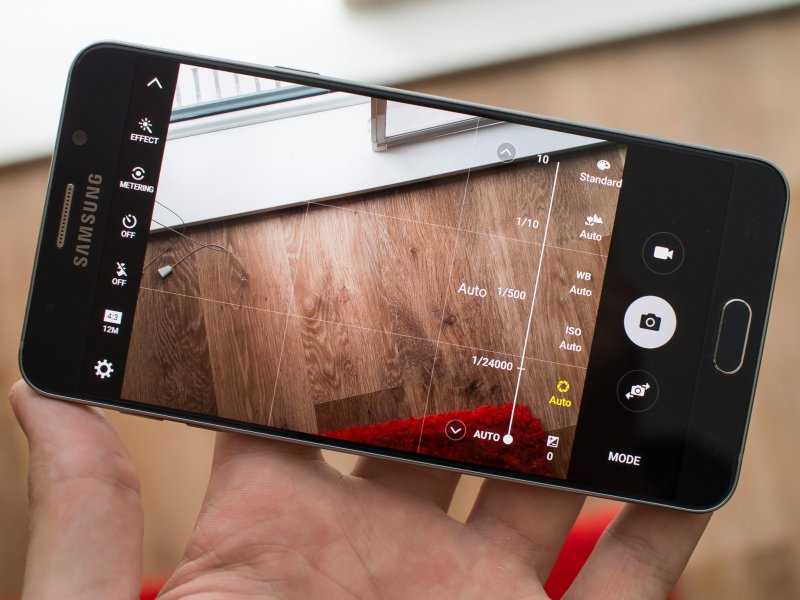 Galaxy Note 5 camera interface