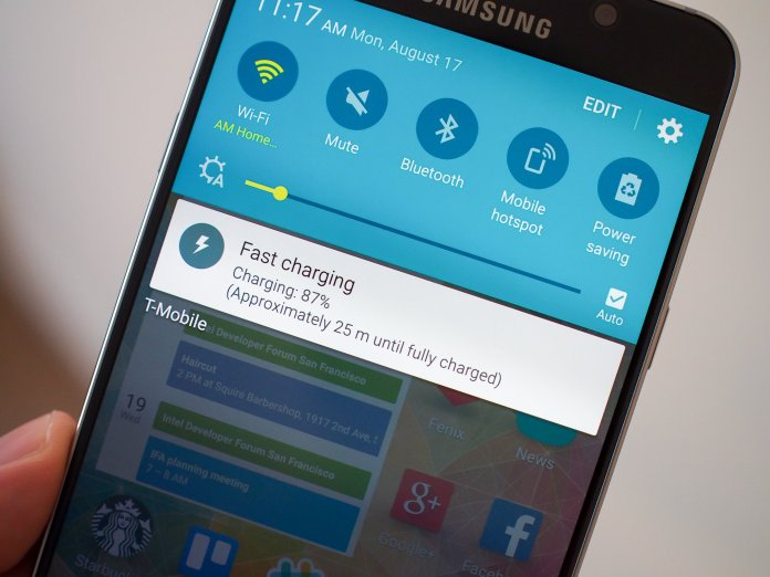 Galaxy Note 5 quick charging