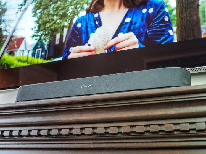 Sonos Beam underneath a TV