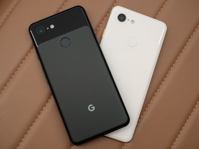 Google Pixel 3 black and white