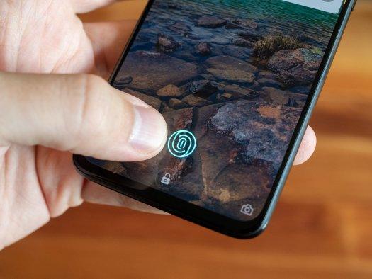 OnePlus 6T in-display fingerprint sensor