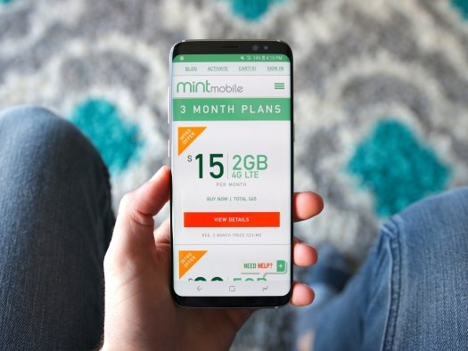 Mint Mobile website showing available plans