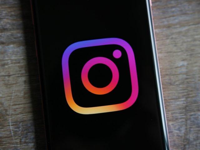 Instagram logo on a Galaxy S10