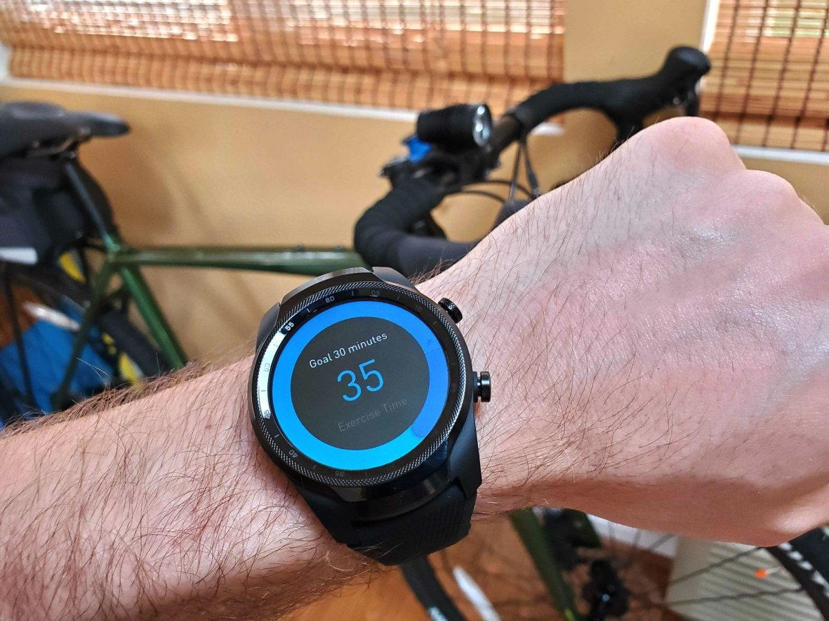 The TicWatch Pro 4G is still huge, but at least it's faster