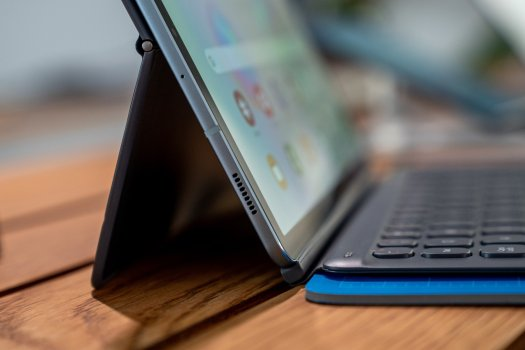 Samsung Galaxy Tab S6 Folded out Keyboard Cover
