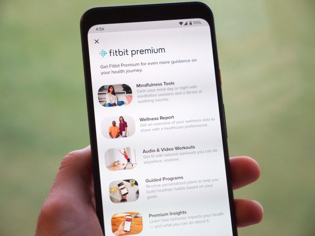 Fitbit Premium sign up page