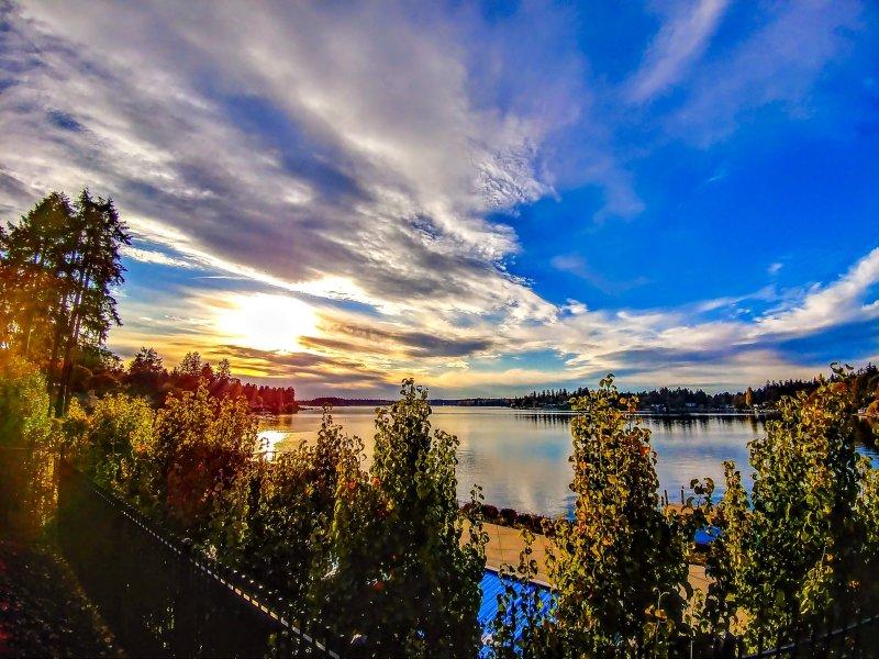 Coucher de soleil sur le lac Cacapon