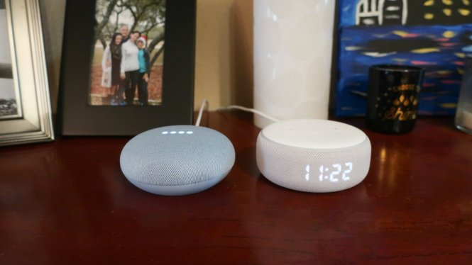 Nest Mini Echo Dot Clock Hero